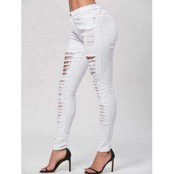 Ripped Pencil Skinny Jeans