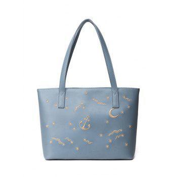 Embroidery PU Leather Shoulder Bag