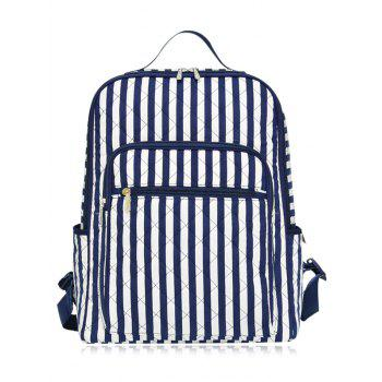 Striped Pettern Quilted Backpack