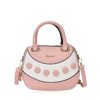 Textured Leather Polka Dot Handbag