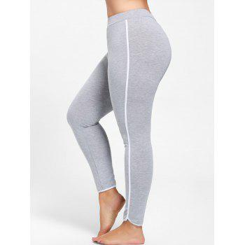 Plus Size Single Stripe Skinny Leggings