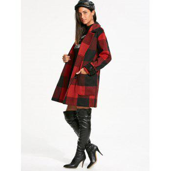 Tartan Double Breasted Pea Coat - 2XL 2XL