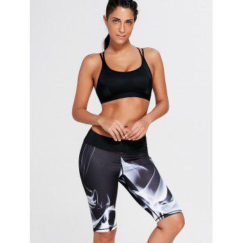Lights Pattern Bermuda Sports Leggings - L L