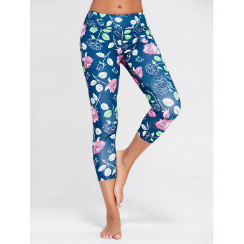 Rose Floral Printed Sports Leggings