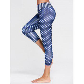 Patterned High Waist Capri Funny Gym Leggings
