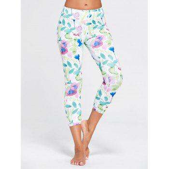 Flower Patterned Workout Tights