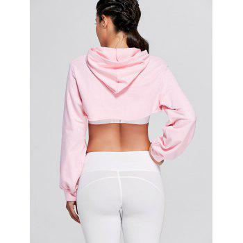 Sports Drop Shoulder Supper Crop Hoodie - M M