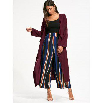 Longline Waterfall Coat with Back Split - S S