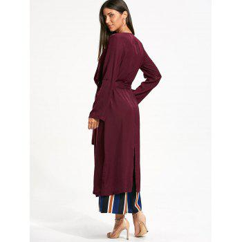 Longline Waterfall Coat with Back Split - L L