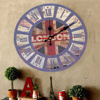 British Flag Wood Round Analog Wall Clock - 50*50CM 50*50CM