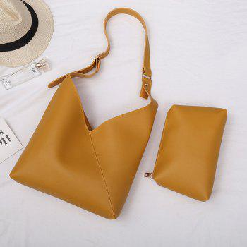Two Pieces Leather PU Shoulder Bag Set -  YELLOW