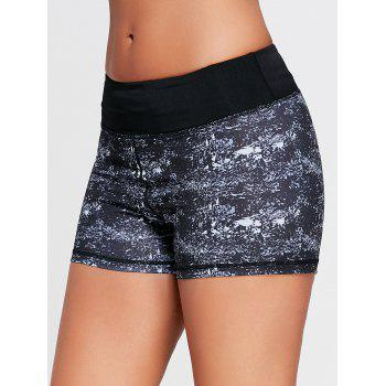 Dip Dye Mini Running Shorts - BLACK BLACK