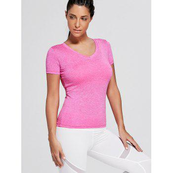 Breathable V Neck Sports T-shirt - TUTTI FRUTTI TUTTI FRUTTI