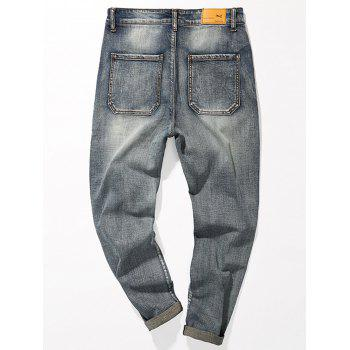 Fade Regular Fit Tapered Jeans - BLUE BLUE