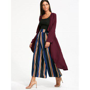 Longline Waterfall Coat with Back Split - BORDEAUX BORDEAUX