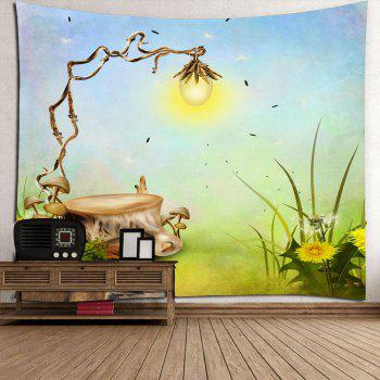 Waterproof Magic Light Bulb Hanging Wall Tapestry - GREEN GREEN