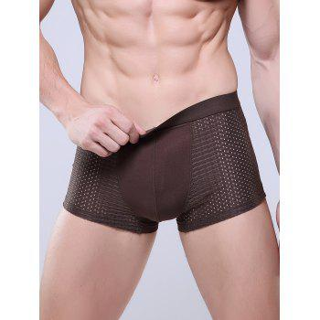 U Convex Pouch Openwork Boxer Brief - COFFEE COFFEE
