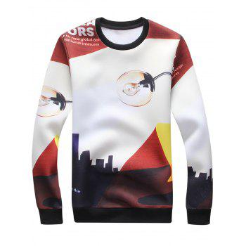 Electric Bulb Graphic Print Long Sleeve Sweatshirt - COLORMIX COLORMIX