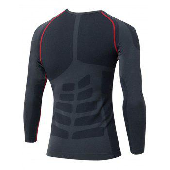 Stretchy Quick Dry Long Sleeve T-shirt - RED RED