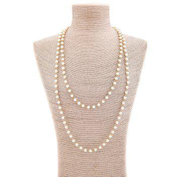 Statement Faux Pearl Sweater Chain - GOLDEN GOLDEN