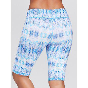 Sports Tribal Printed Bermuda Shorts Shorts - Bleu M