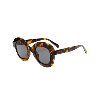 Street Snap Ombre Wide Frame Sunglasses - BLACK LEOPARD PRINT
