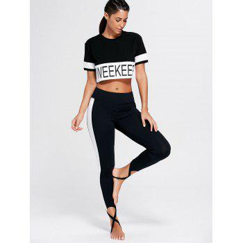 Weekkeep Graphic Cropped Sports T-shirt - BLACK L