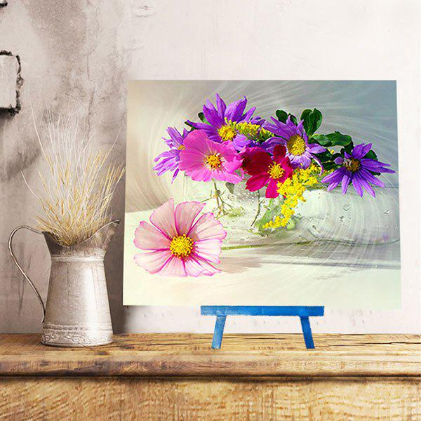 Blooming Flowers DIY Resin Diamond Paperboard Painting - COLORMIX