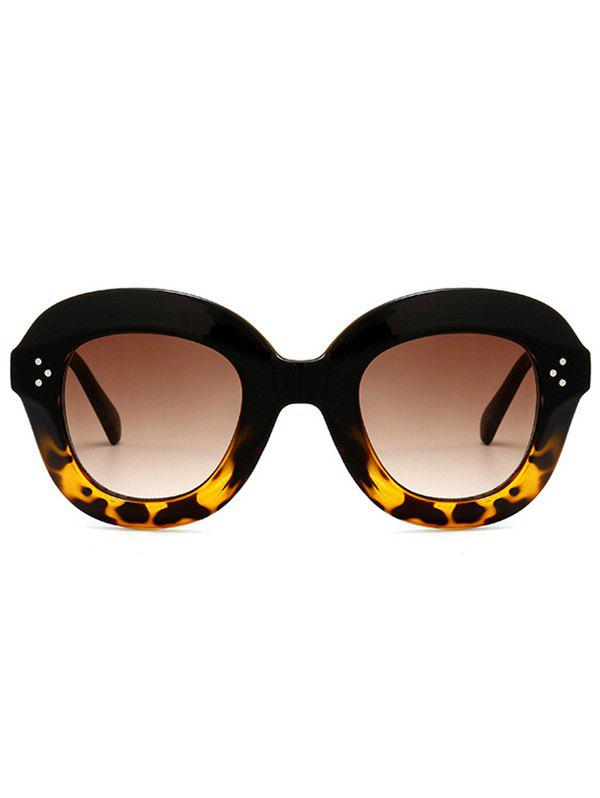 Street Snap Ombre Wide Frame Sunglasses - BLACK/LEOPARD