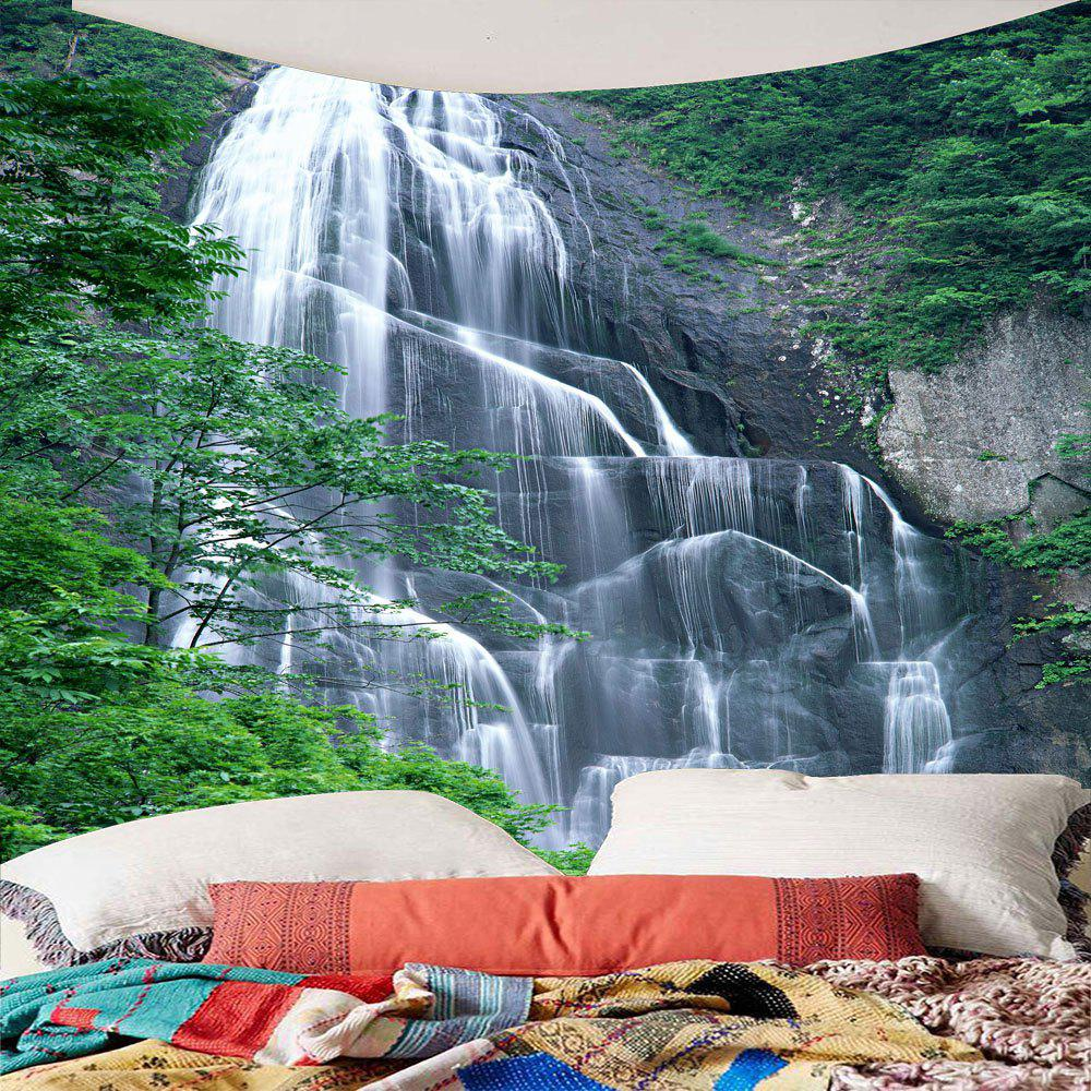 Waterproof Hanging Wall Decor Waterfall Printed Tapestry - GREEN W79 INCH * L79 INCH