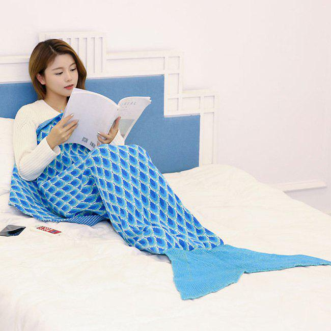 Peacock Pattern Canapé tricot Mermaid Blanket - Pers 180*90CM
