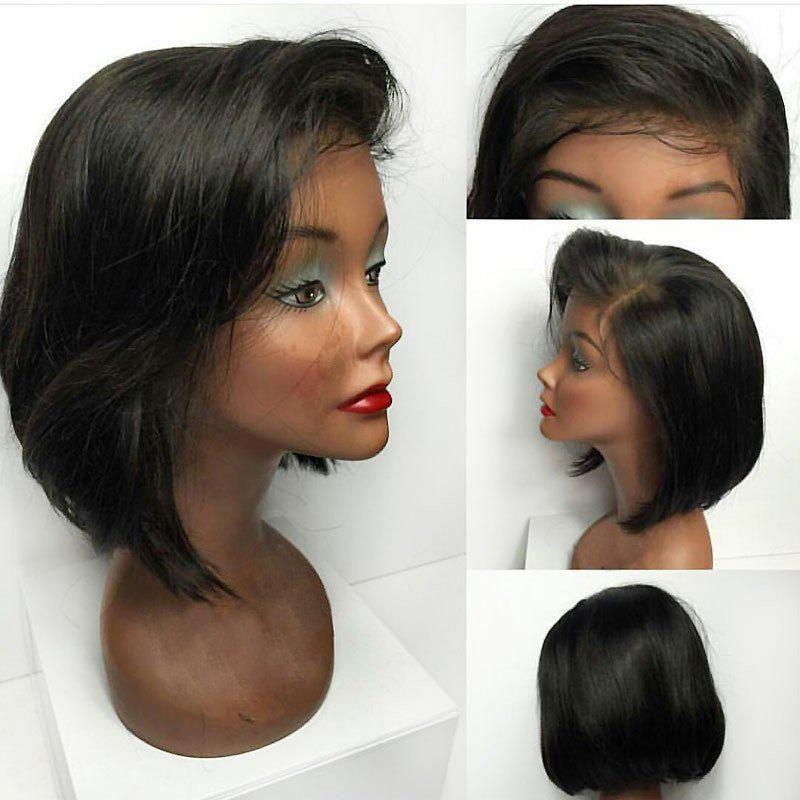 Deep Side Bang Straight Short Bob Lace Front Synthetic Wig tsnomore black to blue synthetic lace front bob wig
