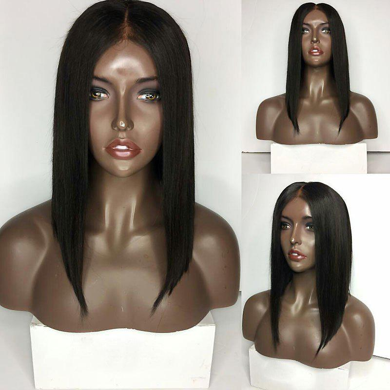 Medium Center Part Straight Inverted Bob Lace Front Synthetic Wig tsnomore black to blue synthetic lace front bob wig