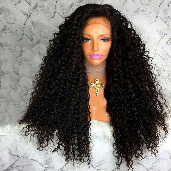 Free Part Afro Long Shaggy Curly Lace Front Synthetic Wig deep side part shaggy curly long lace front synthetic wig