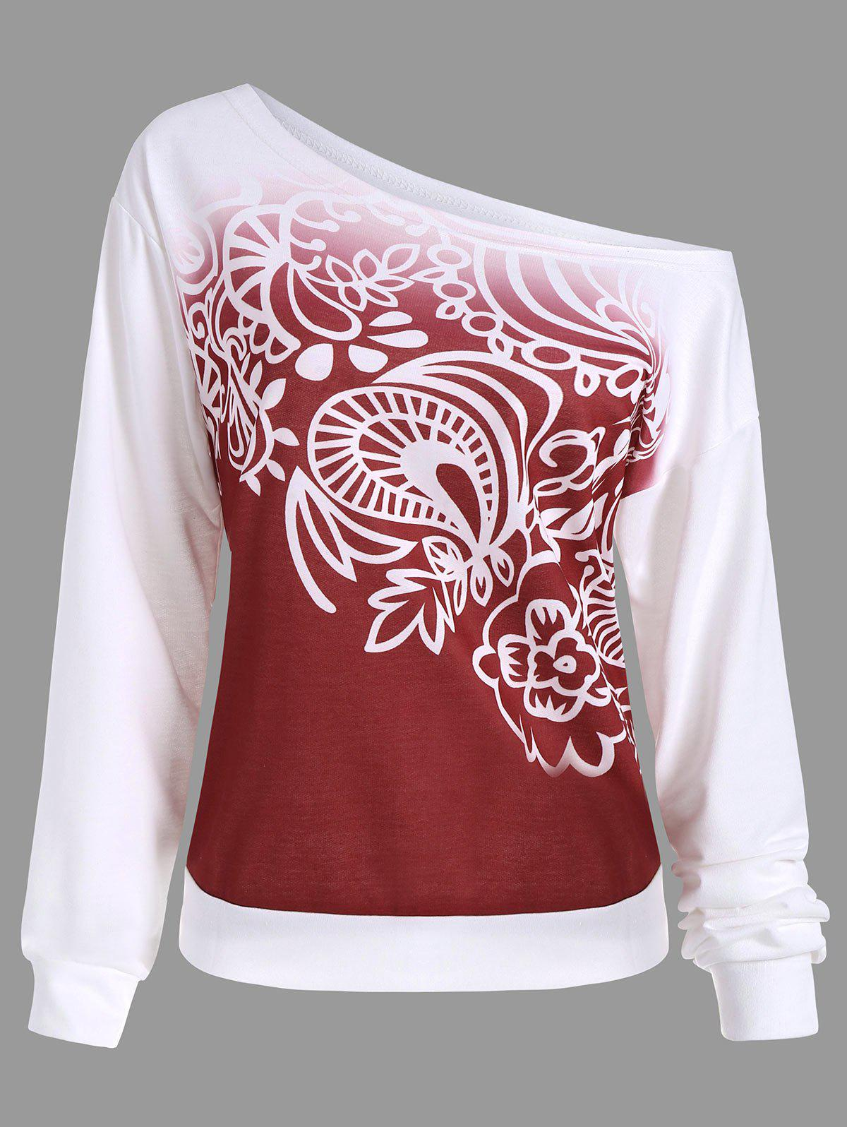 Ombre Printed Long Sleeve Sweatshirt trek 820 2015
