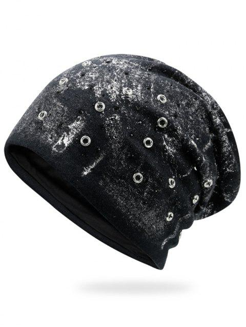 fe73dc30d18 41% OFF  2019 Round Rivet Inlay Beanie Cap In SILVER