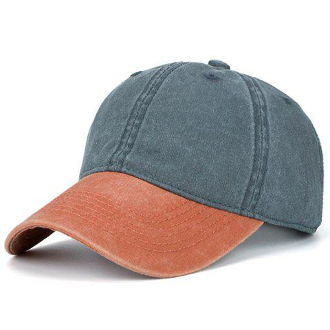 Two Tone Nostalgic Baseball Hat - GREY/ORANGE