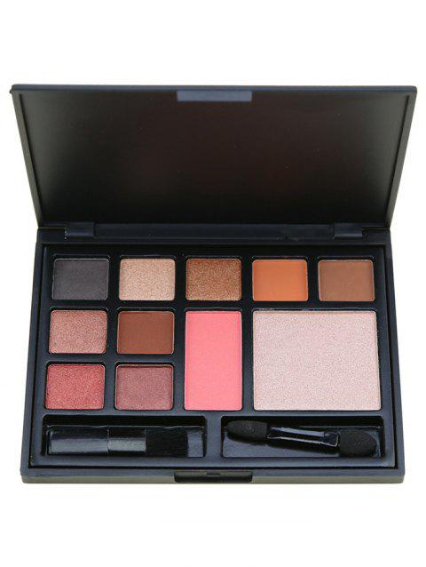 11 Colors Multifunctional Face Cosmetic Palette with Brushes - PINK
