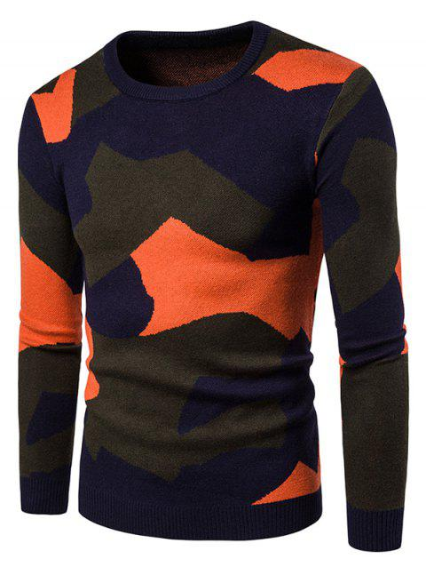 Pull Camouflage Coloré Pull-Over - Saumon 2XL
