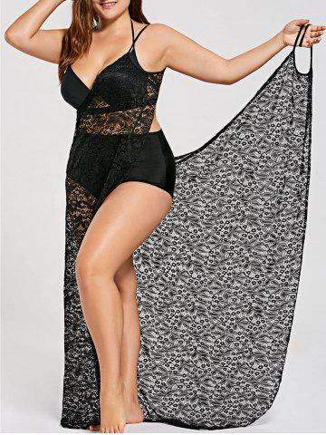 5f28b2a2564bc 2019 Black Lace Beach Cover Up Online Store. Best Black Lace Beach ...