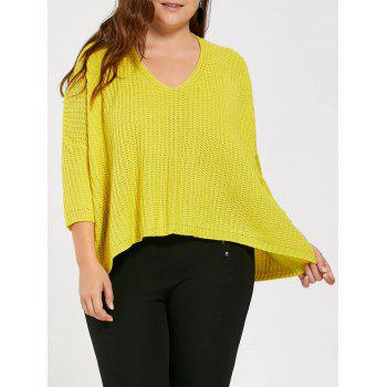 Plus Suze Long High Low Chunky Knit Sweater
