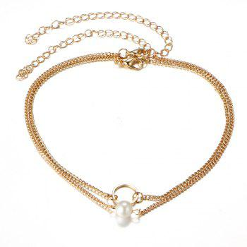 Artificial Pearl Round Collarbone Necklace Set