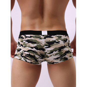 Camouflage Hollow Convex Pouch Trunk - L L