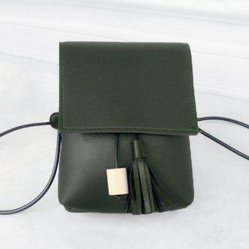 Faux Leather Tassel Cross Body  Bag