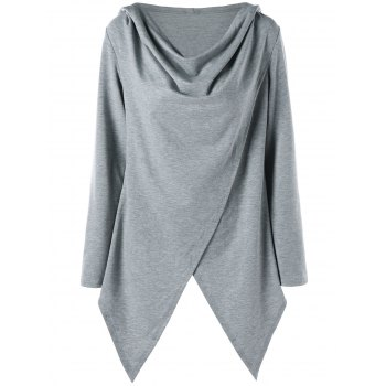 Asymmetrical Tunic Pullover Hoodie