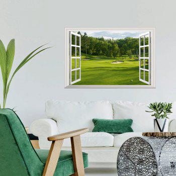 Outdoor View 3D Window Wall Art Sticker