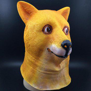 Halloween Accessories Dog Head Mask - DEEP YELLOW