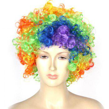 Rainbow Clown Wig Halloween Party Accessories - COLORMIX