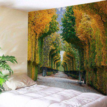Forest Avenue Bench Print Tapestry Wall Hanging Art