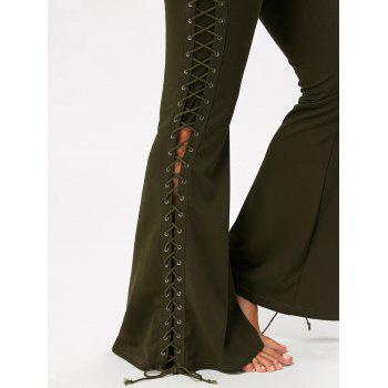 Flare Pants with Criss Cross Lace Up - S S